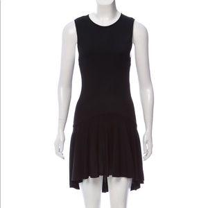 Alexander McQueen black knit high low dress